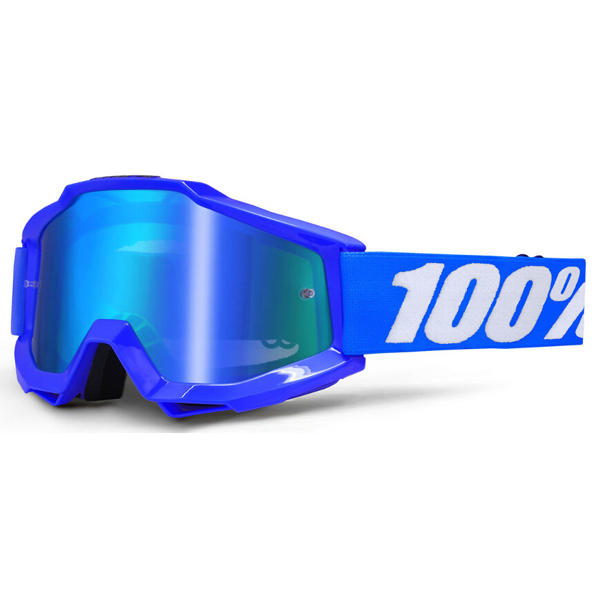 100% Accuri Reflex Blue Anti-Fog Mirror Lens Blue gogle
