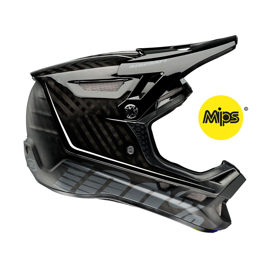 100% Aircraft Mips raw full face kask L 59-60cm