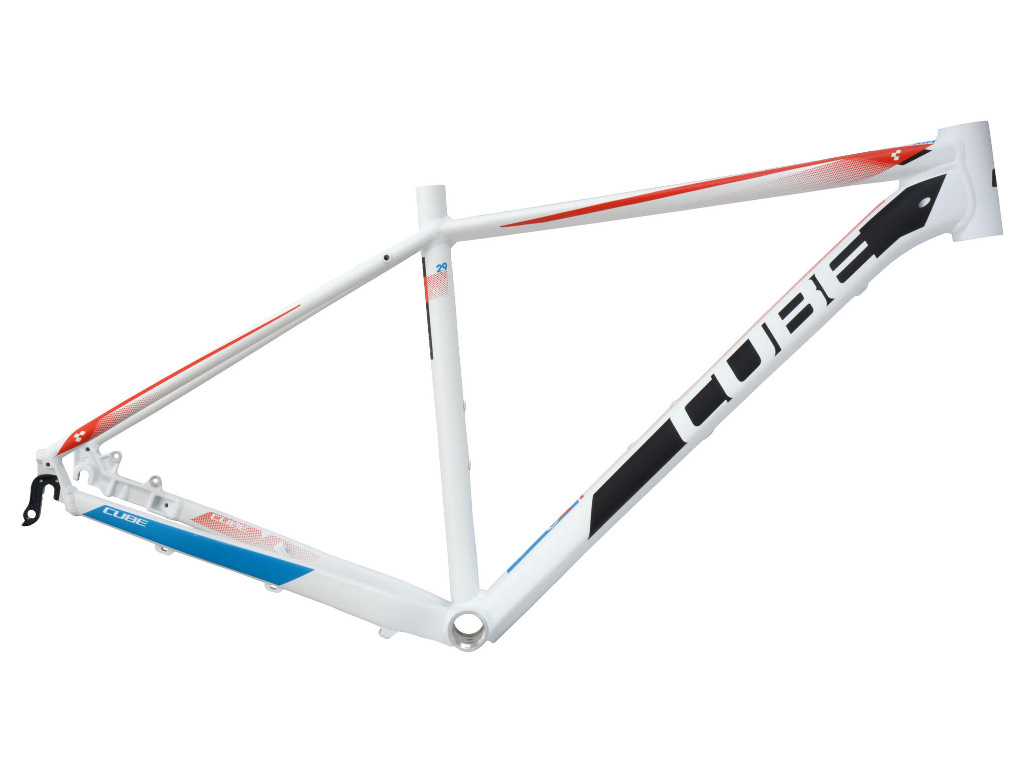 Aim 29 white red blue rama MTB rozmiar 17""