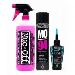 Muc-Off 1L Bike Cleaner + Wet Lube 50ml + MO-94 400ml zestaw do konserwacji
