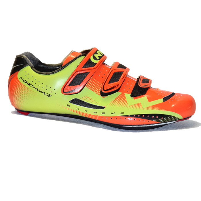 Northwave Extreme 3S orange green buty szosa 45.5