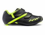Northwave Torpedo 2 Junior Kinder szosowe buty black/yellow fluo 32