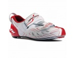 Northwave Tribute buty triathlon white red silver 43