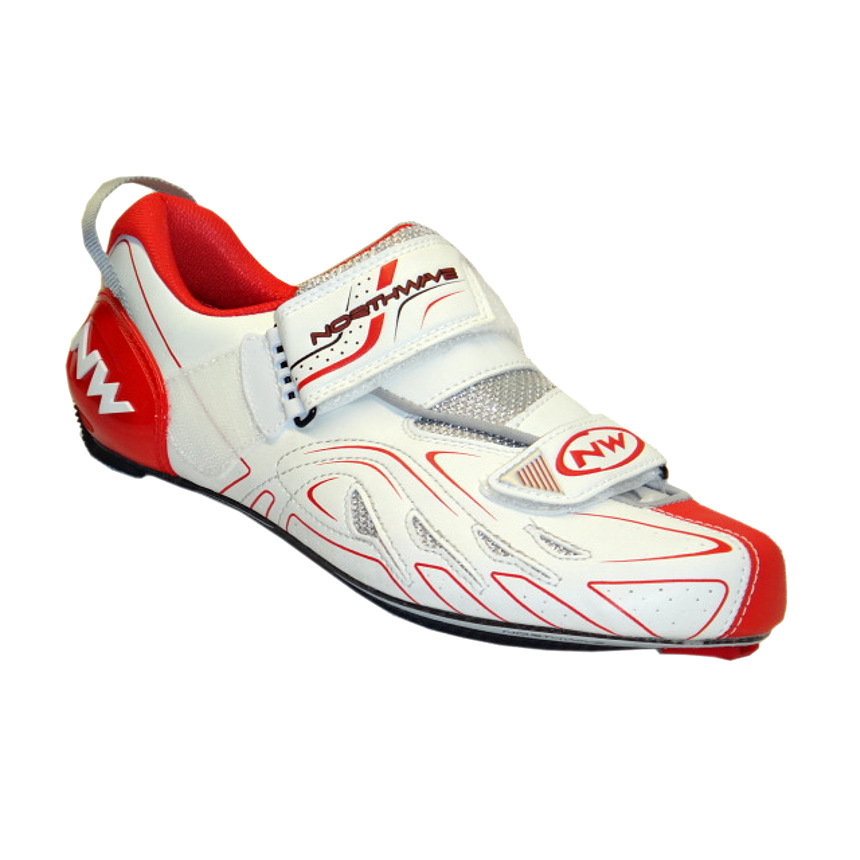 Northwave Tribute white red silver triathlon buty 45