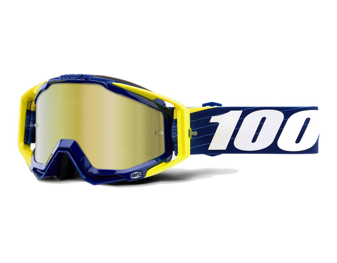100% Racecraft Bibal/Navy Anti-Fog Mirror Lens gogle