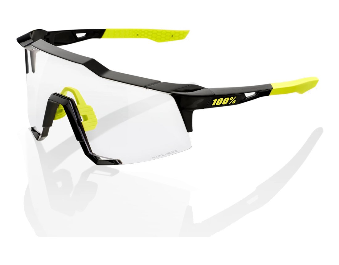 100% Speedcraft Tall (Photochromic Lens) Gloss Black okulary
