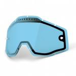 100% Vented Dual Clear Lens Blue szyba Racecraft Accuri Strata