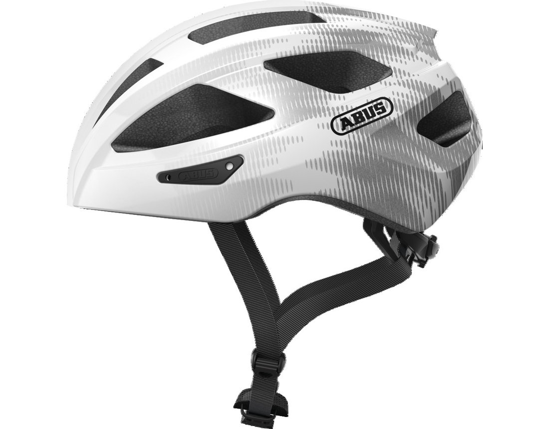 Abus Macator kask szosa white silver S (51-55 cm)