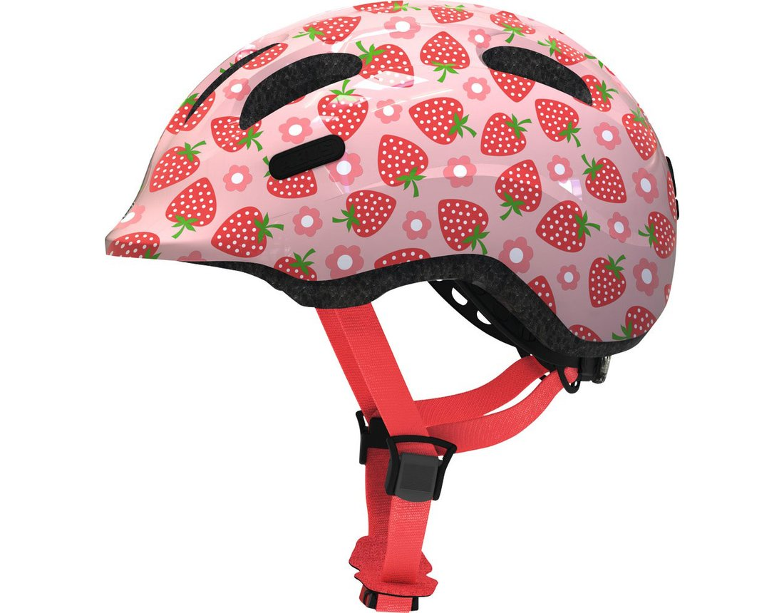 Abus Smiley 2.1 kask dziecięcy rose strawberry M (50-55 cm)