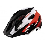 Alpina Carapax black white neon red M 52-57cm kask MTB