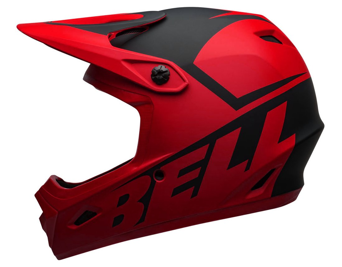 Bell Transfer-9 kask Fullface mat red black L 57-59cm