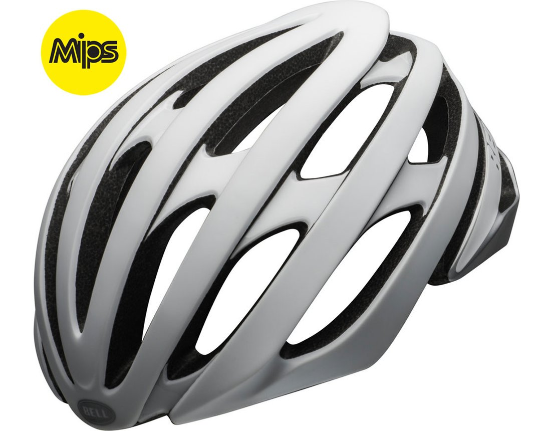Bell Stratus MIPS kask szosa mat Gloss White/Silver S 52-56cm